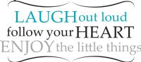 Laugh Out Loud Wall Quote Wall Sticker Set
